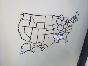 States visited so far.