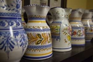 Colorful pottery.