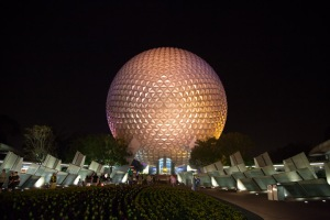"Iconic ""golf ball"" at Epcot."