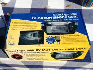 Motion detector light.