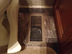 Original register in the bathroom.