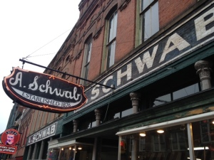 The A. Schwab store on Beale Street.