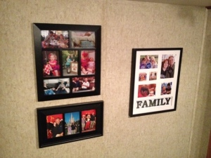 New picture frames (two on the left).
