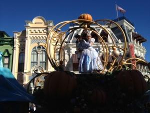 "Cinderella waving ""Bye"" to us."