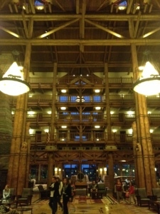 Wilderness Lodge lobby.