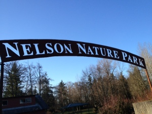 Nelson Nature Park entry sign