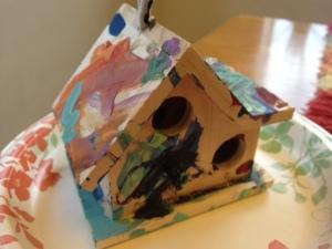 Violet's bird house.