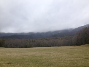 Very low clouds today.