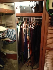 Right side of closet before mod.