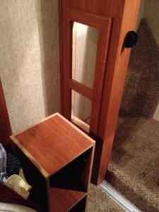 Shelf unit removed.