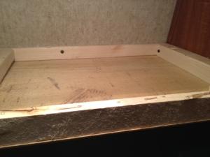 Shelf framing and mounting screws.