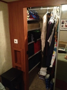 Closet all finished.