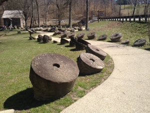 Collection of old mill stones.