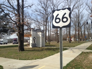 Route 66 themed picnic area