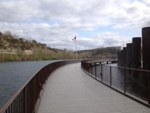 Lake side walk.