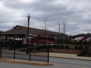 Train arrived at station