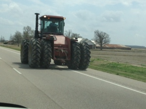 Tractor on US 63