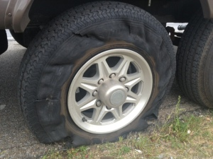 Shredded tire.