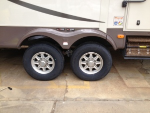Both tires replaced on the right side.