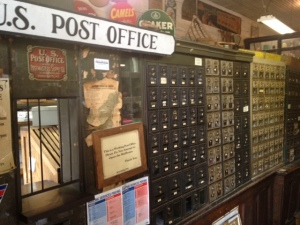 Valle Crucis post office in the store.