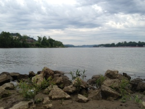 Where the Big Sandy and Ohio Rivers intersect. West Virginia in the foreground, Kentucky to the left, Ohio to the right.