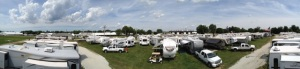Panoramic shot from the roof of our trailer.