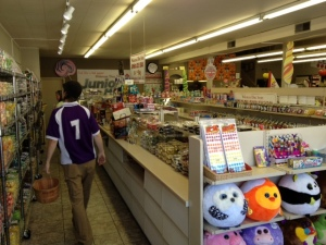 Aisles of candy.