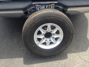 New tire on new wheel.