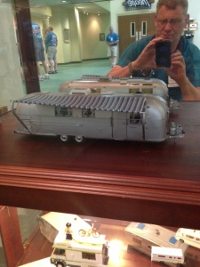 Scale model Airstream Trailer.