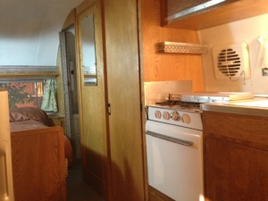 Random travel trailer interior from the 50's or 60's.