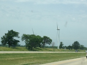 Couple of huge wind turbines we saw along the way