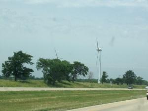 Couple of huge wind turbines we saw along the way