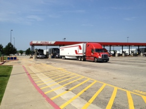 One of two fuel stops