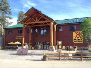 Giant check-in office and store at KOA
