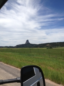 Devil's Tower from a distance.