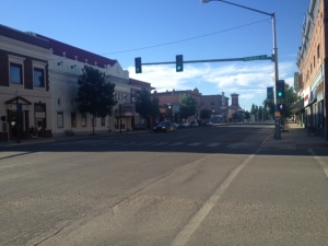 Downtown Deer Lodge and the one stop light
