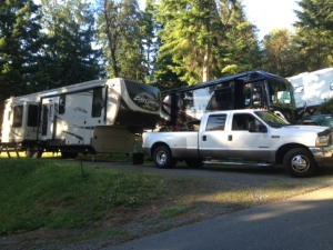 Our site at Gig Harbor RV Resort