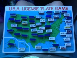 Today's license plates