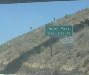 At the top of Tejon Pass