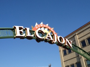 El Cajon sign over Main Street.