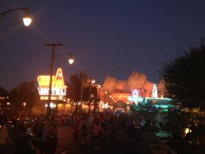 Radiator Springs at night