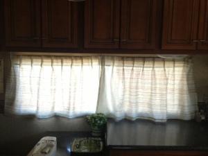 Long kitchen window.
