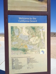 California desert sign at rest area.