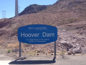 Hoover Dam sign