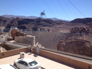 Hoover Dam from the parking deck
