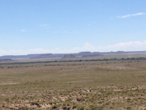 Mesas appearing in the distance