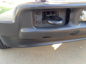 After - trim under front bumper