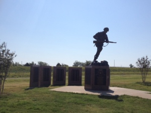 Memorial at Texas welcome area