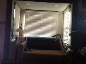 Couch slide with valances and border removed