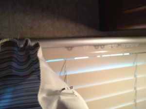Hanging the curtains